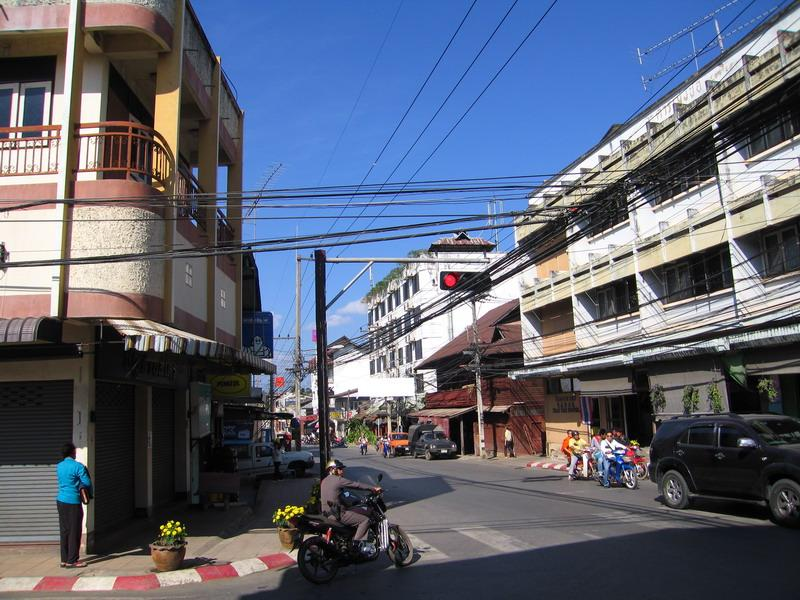 The main intersection in Mae Hong Son