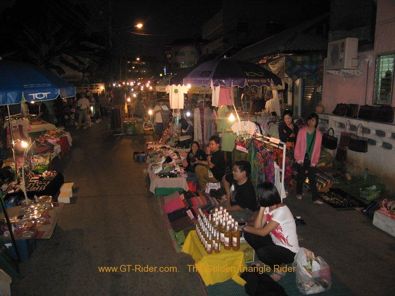 The night market walking street Mae Hong Son