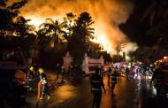 Myanmar - Historic Kandawgyi Palace Hotel Fire