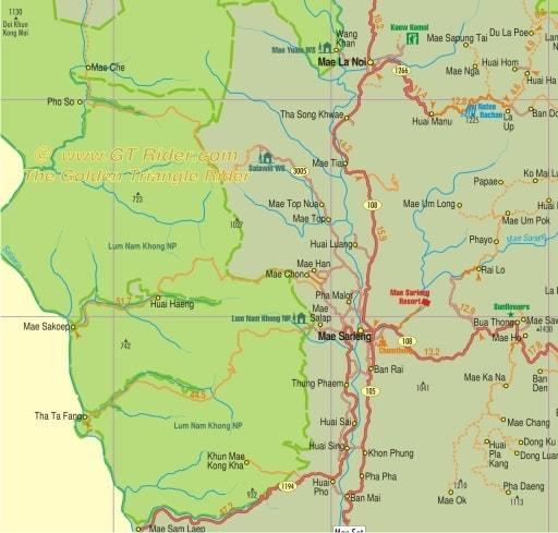 Mae Sariang Environs Map