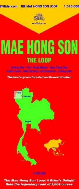 The new 4th Edition Mae Hong Son Loop Map