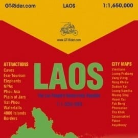 5th Edition GT Rider Laos Map