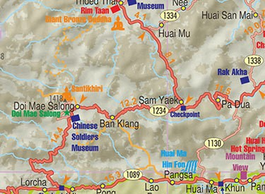 Touring maps of Thailand and Laos