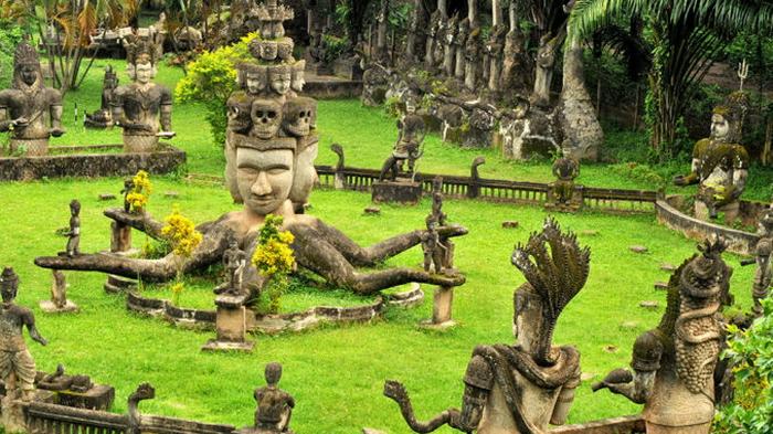 Laos - Vientiane Buddha Park to be renovated.
