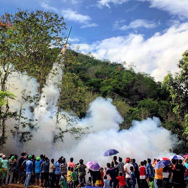 Laos- 2018 Rocket Festival in Muang Nan, Luang Prabang