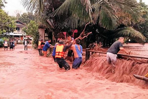 Thailand - More Nan flash flood road damage.